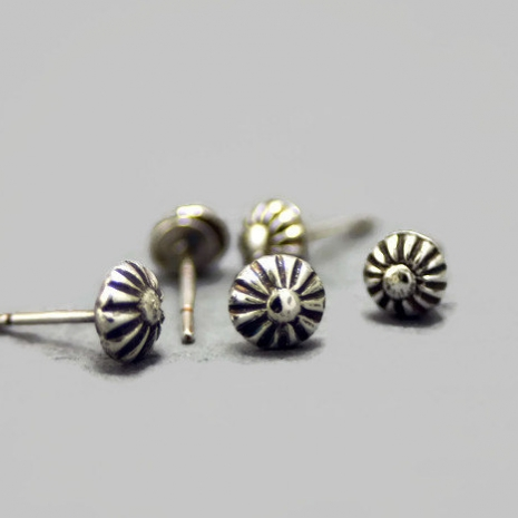 Handmade Sterling Silver Single Stud Earring