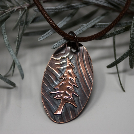 Pine Tree Pendant - Hand Crafted