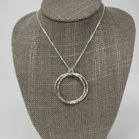 Entwined Silver Pendant