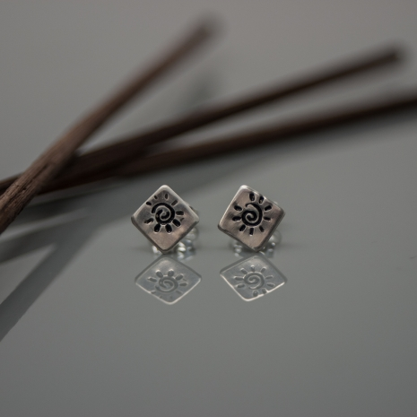 Sun Ray Stud Earrings