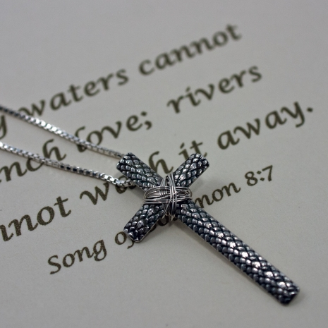 Silver Cross - Christian Faith Pendant