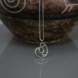 Spiral Silver Dewdrop Pendant