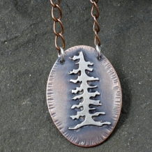 Fir Tree Mixed Metal Necklace
