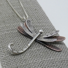 Dragonfly Pendant Mixed Metals