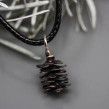 Tiny Copper Pine Cone