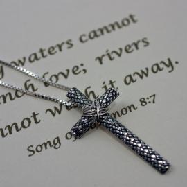 Silver Cross - Christian Faith Pendant