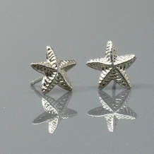 Starfish Stud Earrings Silver