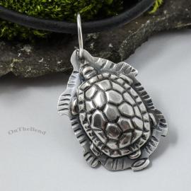 Turtle Pendant Silver